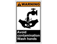 ANSI Warning Avoid Contamination Wash Hands 1