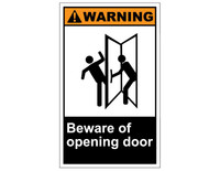 ANSI Warning Beware Of Opening Door 1
