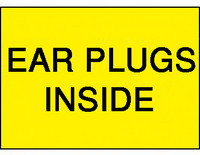 Earplugs Inside Sign