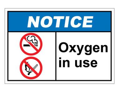 ANSI Notice Oxygen In Use