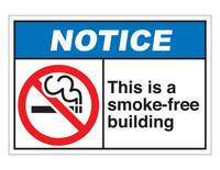 ANSI Notice This Is A Smoke-Free Building