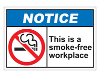 ANSI Notice This Is A Smoke-Free Workplace