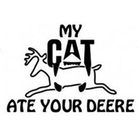 My Cat Ate Your Deere Decal