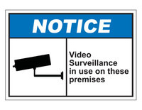 ANSI Notice Video Surveillance In Use On These Premises