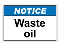 ANSI Notice Waste Oil