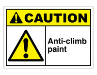 ANSI Caution Anti-Climb Paint