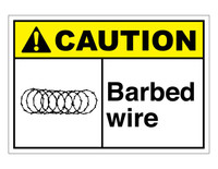 ANSI Caution Barbed Wire 1