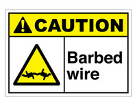 ANSI Caution Barbed Wire 2