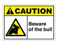 ANSI Caution Beware Of The Bull