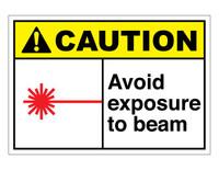 ANSI Caution Avoid Exposure To Beam