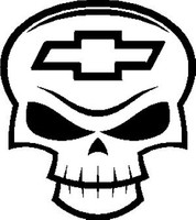Chevy Skull Decal