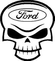 Ford Skull Decal