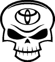 Toyota Skull Decal