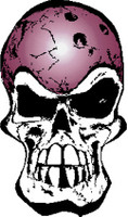 Bowling Ball Skull Sticker
