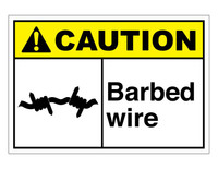 ANSI Caution Barbed Wire 3