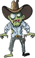 Zombie Cowboy Sticker