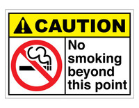 ANSI Caution No Smoking Beyond This Point
