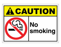 ANSI Caution No Smoking