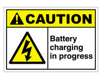 ANSI Caution Battery Charging In Progress