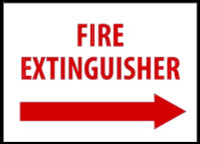 Fire Extinguisher With Right Arrow