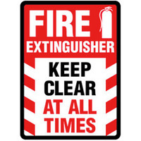 Fire Extinguisher Keep Clear At All Times