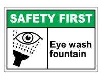 ANSI Safety First Eye Wash Fountain