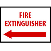 Fire Extinguisher With Left Arrow