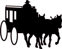 Cowboy and Stagecoach Decal #2