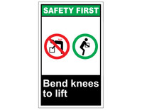 ANSI Safety First Bend Knees To Lift