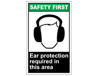 ANSI Safety First Ear Protection Required In This Area 1