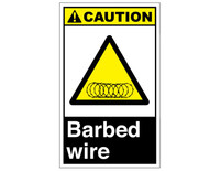 ANSI Caution Barbed Wire 4