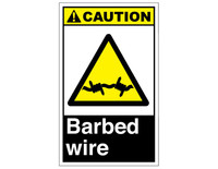 ANSI Caution Barbed Wire 6