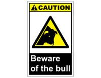 ANSI Caution Beware Of The Bull 1