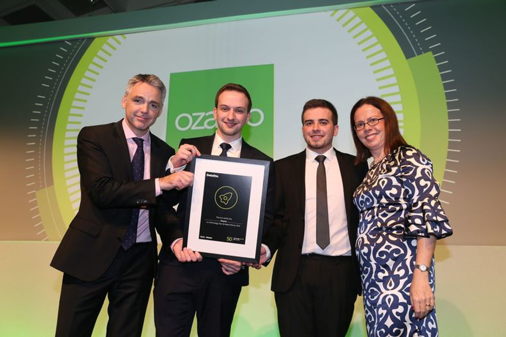 Ozaroo awarded Northern Ireland's fastest-growing technology company 2016