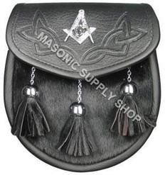Masonic Sporran with Emblem Celtic design on top