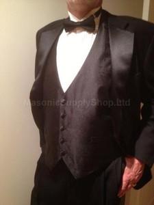 Formal Black Mortality Masonic Vest