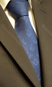 Royal Blue Tie with Square and Compass    OUT OF STOCK