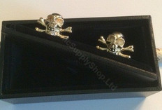 Gold Mortality Cufflinks