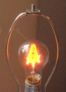 Masonic Light Bulb  Set of Three Bulbs