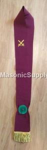 Knight Mason Red Sash Crimson