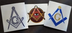 3 pack Masonic Decals