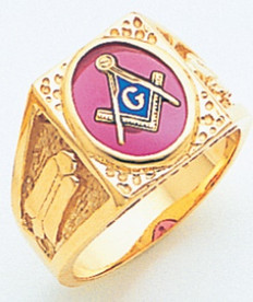 OVAL SET IN SQUARE DESIGN GOLD BLUE LODGE MASONIC RING WITH STONE COLOUR CHOICE MAS60710BL