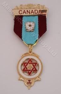 Royal Arch Companion Jewel Two Colour Ribbon