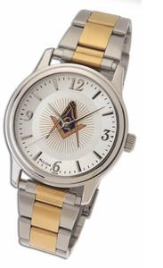 Masonic Watch with 2 Toned Steel Strap MSW103TT