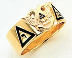GOLD SCOTTISH RITE RING HOM312NE-X HOM312NE-X