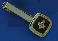 GOLD PLATED SQUARE AND COMPASS TIE BAR MAS1560TB