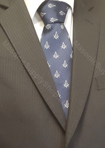 Masonic Dark Blue Tie