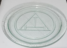 Old Royal Arch Charity Plate   Green Glass