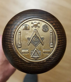 Masonic Walking Cane  Spiral Design with Masonic Emblems