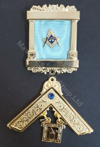 Past Master Breast  Pillar Jewel  with Blue Stone
